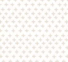 Swiss Cross in Taupe and Cream by phantomprint