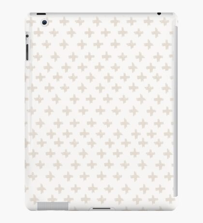 Swiss Cross in Taupe and Cream iPad Case/Skin