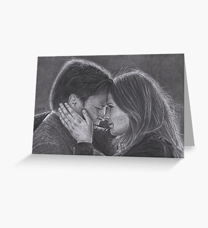 Castle and Beckett - Last battle Greeting Card