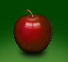 Abstract red apple by AnnArtshock