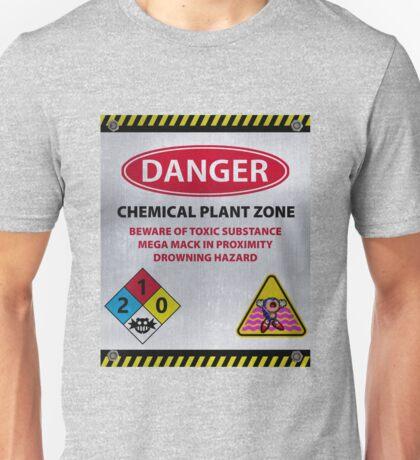 DANGER - CHEMICAL PLANT ZONE Unisex T-Shirt