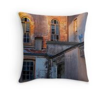 Neglected facade Throw Pillow