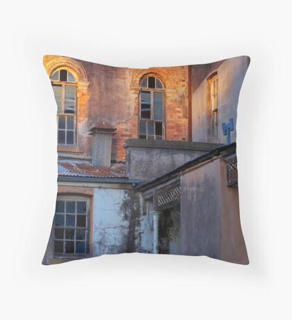 Neglected facade Throw Pillow