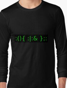 Fork Bomb - Green Long Sleeve T-Shirt