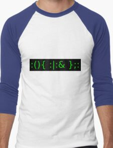 Fork Bomb - Green Men's Baseball ¾ T-Shirt