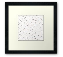 Chic Pastel Dot & Spot Pattern Framed Print
