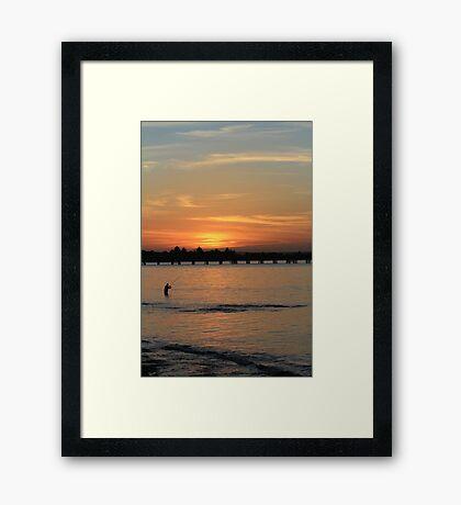 Sunest Fishing at Kurnell Framed Print