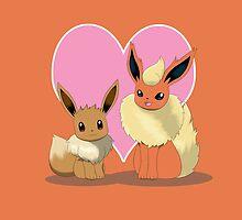 Eevee & Flareon by Winick-lim