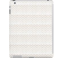 Chic Taupe Ombre Chevron Pattern iPad Case/Skin