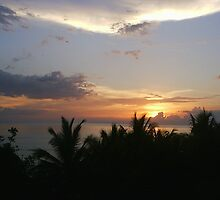 sunset in Montego Bay Jamaica by indpndnt