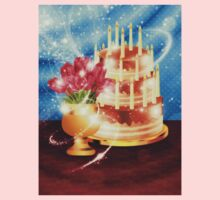 Chocolate cake and tulips Kids Clothes
