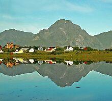 Lake Reinevatnet - Lofoten - Norway by Arie Koene