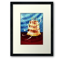 Chocolate cake and tulips 2 Framed Print