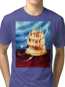 Chocolate cake and tulips 2 Tri-blend T-Shirt