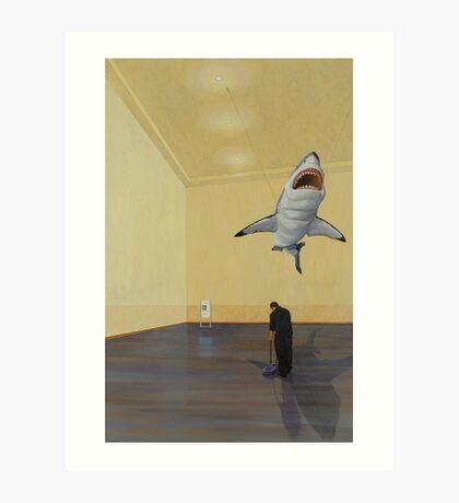 White Shark II (Shadow) Art Print