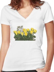 for my special mum this Mother's Day Women's Fitted V-Neck T-Shirt