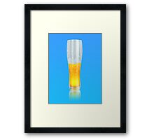 Glass of beer Framed Print