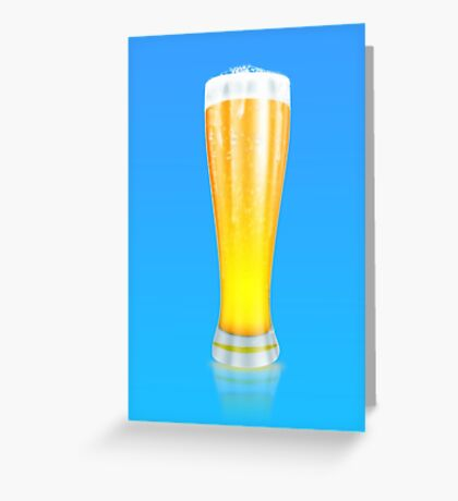 Glass of beer 2 Greeting Card