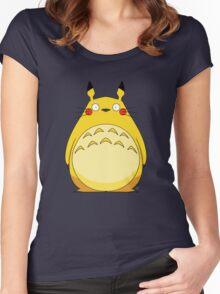 Totoro Pikachu Women's Fitted Scoop T-Shirt