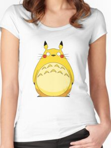 Totoro Pikachu Women's Fitted Scoop T-Shirt
