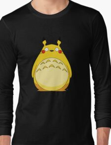 Totoro Pikachu Long Sleeve T-Shirt