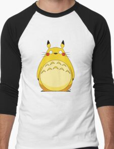 Totoro Pikachu Men's Baseball ¾ T-Shirt