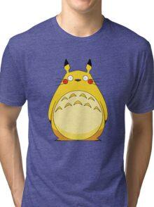 Totoro Pikachu Tri-blend T-Shirt