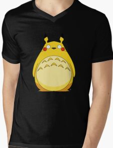 Totoro Pikachu Mens V-Neck T-Shirt