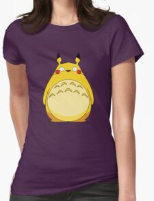 Totoro Pikachu Womens Fitted T-Shirt