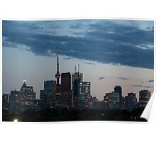 Slow Dusk - Toronto's Glowing Skyline Poster