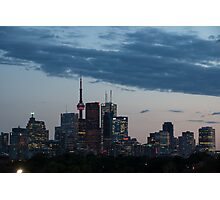 Slow Dusk - Toronto's Glowing Skyline Photographic Print