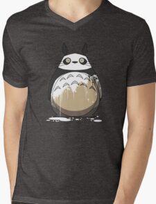 Totoro Painting Panda Mens V-Neck T-Shirt