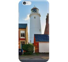 The lighthouse in the street iPhone Case/Skin