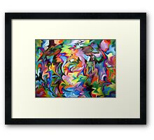 abstract geometric expressionist color Framed Print