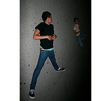 stick figure on the pavement Photographic Print