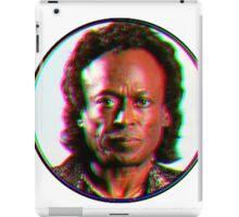 Miles Davis in a funky circuar shape iPad Case/Skin