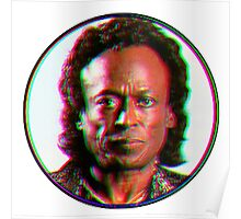Miles Davis in a funky circuar shape Poster