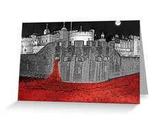 Poppies By Moonlight. Greeting Card