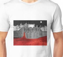 Poppies By Moonlight. Unisex T-Shirt
