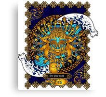Free Your Mind: Multicultural Buddha  Canvas Print