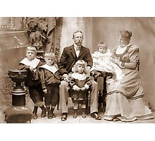 Chile 1898. My Beloved Family. Photographic Print