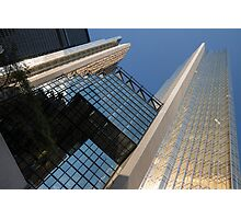 Gold, Black and Blue Geometry - Royal Bank Plaza Photographic Print