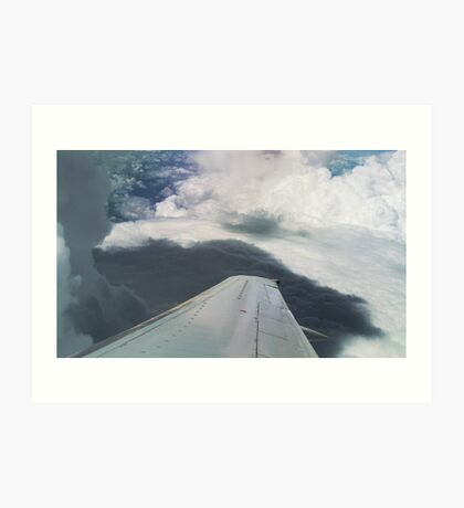 Airplane wing Art Print