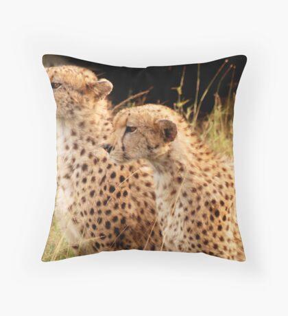 Golden eyed beauties Throw Pillow