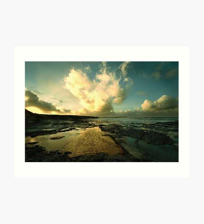 Heart of the Storm- Vintage Edition - Newtrain Bay - Cornwall Art Print
