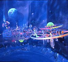 ' a SHIP of SPACE ... ' by TELLURIANARTIST