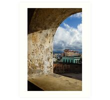 Caribbean Colors of San Juan, Puerto Rico From a Window of San Cristobal Castle Art Print