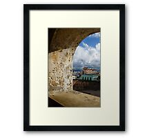 Caribbean Colors of San Juan, Puerto Rico From a Window of San Cristobal Castle Framed Print