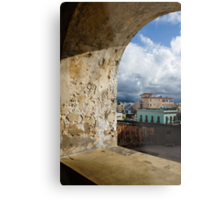 Caribbean Colors of San Juan, Puerto Rico From a Window of San Cristobal Castle Metal Print
