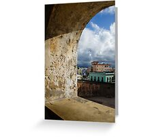 Caribbean Colors of San Juan, Puerto Rico From a Window of San Cristobal Castle Greeting Card